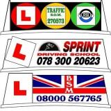 School of Motoring Sign Lettering