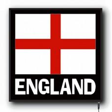 LED England flag logo sign