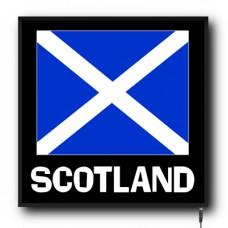 LED Scotland flag logo sign