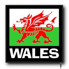 LED Wales flag logo sign