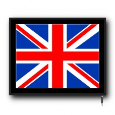 LED Union Jack flag logo sign