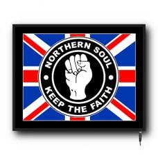 LED Union Jack Northern Soul flag logo sign