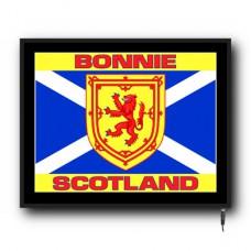 LED Bonnie Scotland flag logo sign