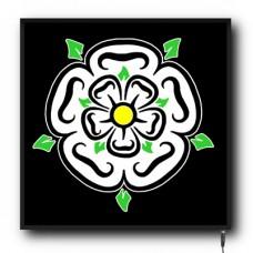 LED Yorkshire Rose flag logo sign