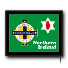 LED Northern Ireland flag logo sign