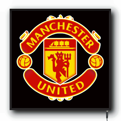 led manchester united logo sign