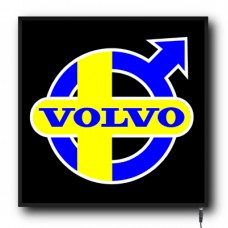 LED Volvo Sweden Flag logo sign (VO003)
